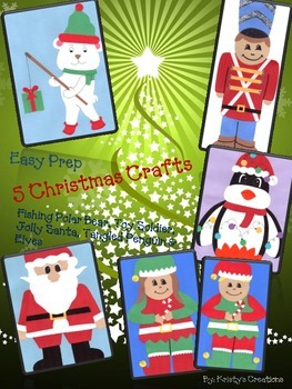 Christmas Craft Unit: Santa, Tangled Penguin, Toy Soldier,