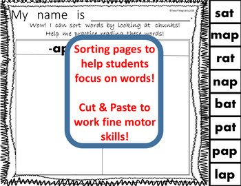 Word Family Worksheets for Word Work No Prep