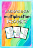 Easy Prep Watercolour Multiplication Posters