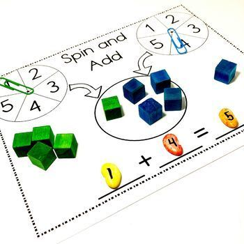 Easy Print and Prep Kindergarten Math Centers: Addition!