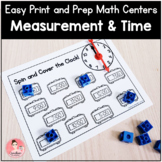 Easy Print and Prep Kindergarten Math Centers: Measurement