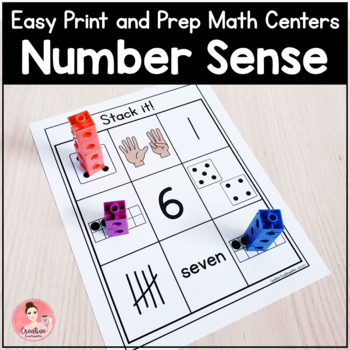 Easy Print & Prep Kindergarten Math Centers: Number Sense! Endlessly Growing