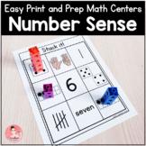 Easy Print and Prep Kindergarten Math Centers: Number Sense!