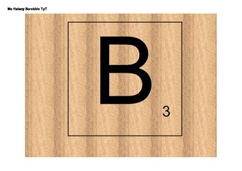 Easy Print and Cut Scrabble Letters (Editable)