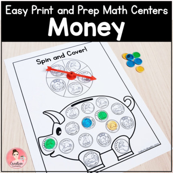 Easy Print and Prep Kindergarten Math Centers: Money! Endlessly Growing