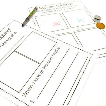 Easy Print and Prep Kindergarten Math Centers: Money! Canadian and U.S. Coins