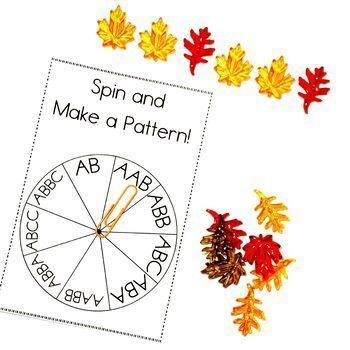 Easy Print and Prep Kindergarten Math Centers: Patterning!
