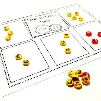 Easy Print and Prep Kindergarten Math Centers: Sorting! Endlessly Growing