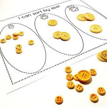 Easy Print and Prep Kindergarten Math Centers: Sorting!
