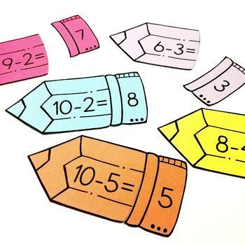 Easy Print and Prep Kindergarten Math Centers: Subtraction!