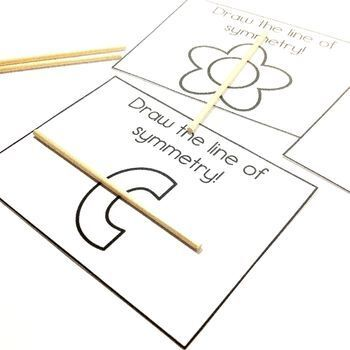 Easy Print and Prep Kindergarten Math Centers: Symmetry!