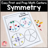 Easy Print and Prep Kindergarten Math Centers: Symmetry!