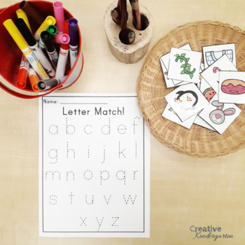 Easy Print and Prep Letter Formation and Phonics Activities for Kindergarten