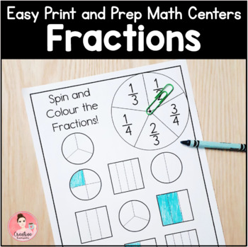 Easy Print and Prep Math Centers and Activities: Fractions