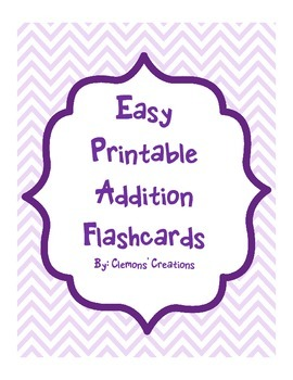 Easy Printable Addition Flashcards with Turn Around Facts!