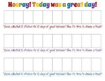 Easy Printable Behavior Chart for Teachers & Parents