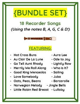 Easy Printables! 18 Recorder Songs using GAB & CD