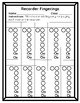 Easy Printables! Recorder Fingerings Worksheets