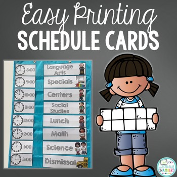 Editable Easy Printing Schedule Cards