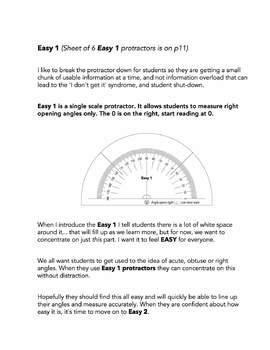 Easy Protractor Series - the original differentiated protractors set
