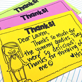 Easy, Quick Printable Thank You Notes