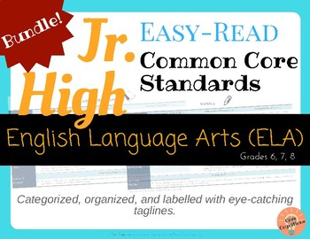 Easy-Read Common Core Charts: English Language Arts for Jr. High