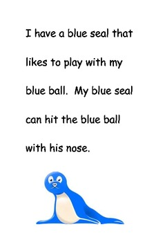 Easy Reader: Color Words - Blue