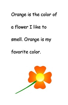 Easy Reader: Color Words - Orange