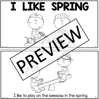 Leveled Reader FREEBIE: I Like Spring (Level 1 Sample, K-1)