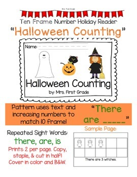 """Easy Reader """"Halloween Counting"""" - Differentiated"""