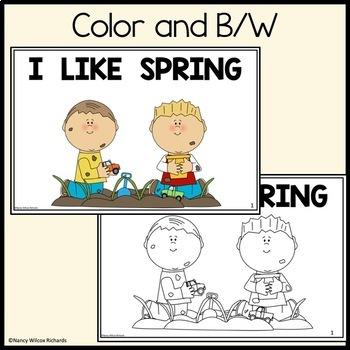Leveled Reader: I Like Spring (3 Different Reading Levels for K-2)