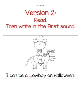 """Easy Reader """"On Halloween"""" - Differentiated"""