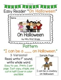 "Easy Reader ""On Halloween"" - Differentiated"