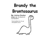 Easy Reader Printable Book - Brandy the Brontosaurus - by GBK