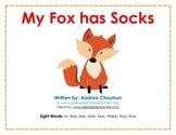 Easy Reader Printable Book - My Fox has Socks - by GBK