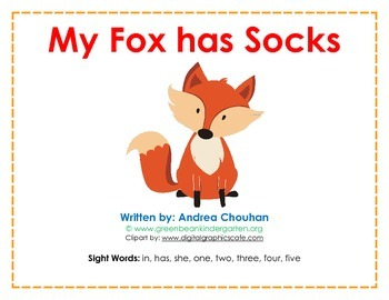 Easy Reader Printable Book - My Fox has Socks - by GBK