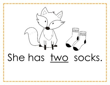 picture about Fox in Socks Printable called Very simple Reader Printable Reserve - My Fox contains Socks - by way of GBK