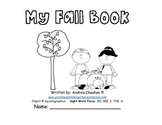 Easy Reader Printable Book - My Fall Book - by GBK