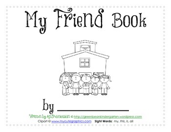 Easy Reader Printable Book - My Friend Book - by GBK