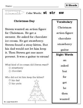 Easy Reader - S Blends - Winter Theme