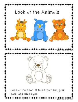 Easy Reader Series book 1: Look at the Animals