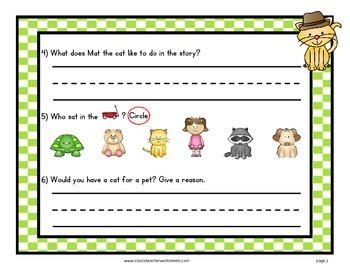 Easy Reader Short Vowel A-Reading Comprehension-Kindergarten Grade 1 (1st Grade)