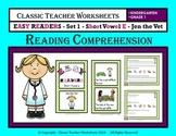 Easy Reader Short Vowel E-Reading Comprehension-Kindergarten Grade 1 (1st Grade)