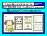 Easy Reader Short Vowel O-Reading Comprehension-Kindergarten Grade 1 (1st Grade)