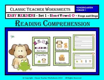 Easy Reader Short Vowel O Reading Comprehension Kindergarten Grade 1