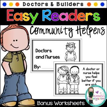 Easy/Emergent Readers! Community Helpers: Doctors/Nurses & Builders. GR Books