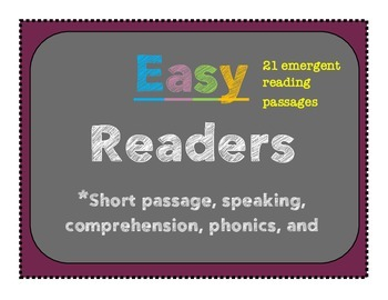 ESOL Easy readers-reading comprehension passages great for