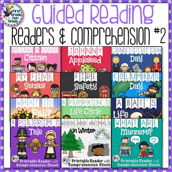 Guided Reading Fall Activities Printable Readers