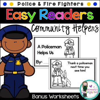 Easy/Emergent Readers! Community Helpers: Police and Firef