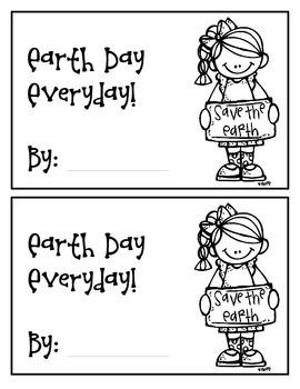 Easy Readers! Valentine's Day & Earth Day Theme. Pre-K & Kindergarten {No Prep}